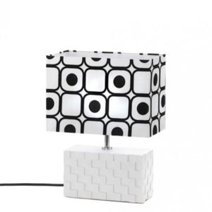 NEW IN BOX GEOMETRIC POP ART TABLE LAMP